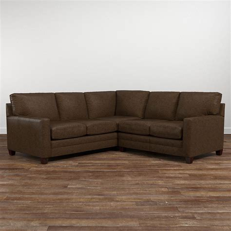 small leather sectional cocoa small leather l shaped sectional