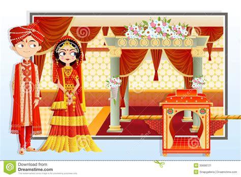 Indian Wedding Couple Stock Image