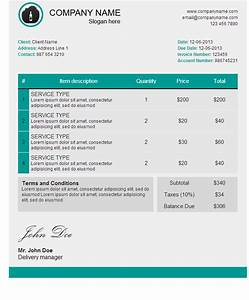 invoice template html code invoice example With free html email template code