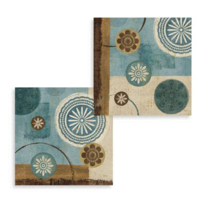 buy blue and brown wall decor from bed bath beyond