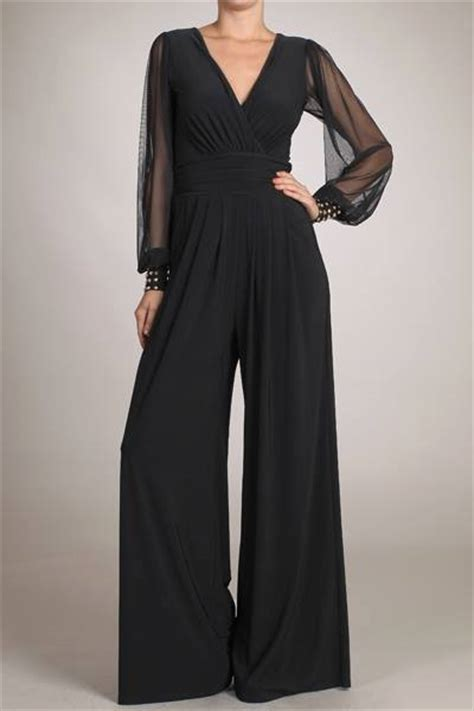 black jumpsuit with sleeves black jumpsuit with sheer sleeves just in