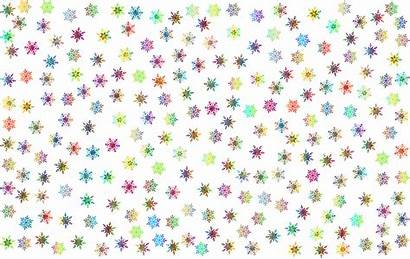 Snowflakes Background Pattern Clipart Vector Colored Domain