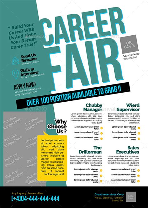 Career Fair Flyer By Shamcanggih  Graphicriver. Sample Caregiver Resume No Experience. Polaris Office Spreadsheet Help. Make The Best Resume Template. Persuasive Essay Examples For High School Template. List Of Skills And Talents Template. Political Campaign Plan Template. Quality Assurance Engineer Cover Letter. Congratulations On Your New Job Quotes