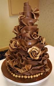 Two tier chocolate wrap cake | b-cake | Pinterest