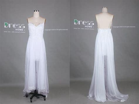 White Spaghetti Straps Lace Tulle Long Wedding Dress/Flowy ...