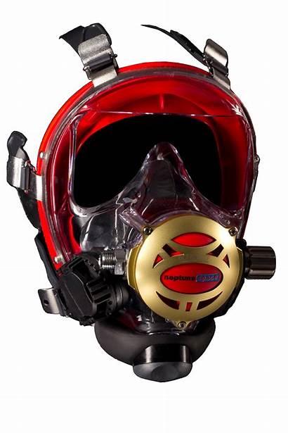 Mask Space Neptune Iron Diving Ocean Reef