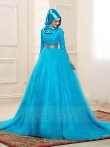 muslim bridesmaid dresses delicate lace sleeves high neck a line muslim wedding dress 11578382 muslim wedding