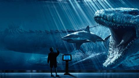 wallpaper jurassic world mosasaurus underwater