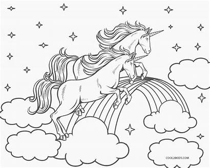 Unicorn Coloring Pages Rainbow Printable Christmas Cool2bkids