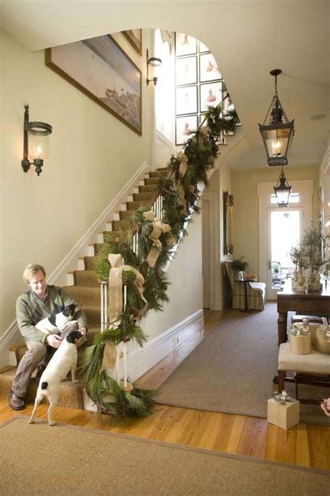 Garland On Banister by Stairs Bannister Gardland P Allen Smith Moss Mountain