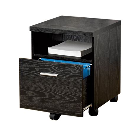 single drawer file cabinet shop coaster fine furniture black 1 drawer file cabinet at