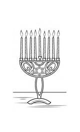 Coloring Hanukkah Pages Jewish Menorah Holidays sketch template