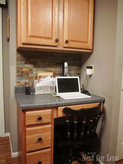 small kitchen desk ideas kitchen desk area wood panel for the back of desk kitchen