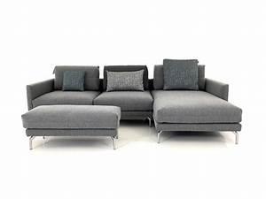 Wo Sofa Kaufen : h lsta sofa mit recamiere und polsterbank und kuschelweichen kissen in stoff fehgrau hs ~ Markanthonyermac.com Haus und Dekorationen