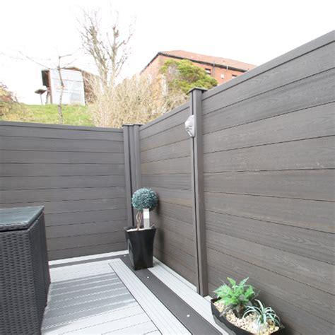 platinum grey composite fencing teckwood uk suppliers