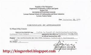 tidbits and bytes example of certificate of appearance With certificate of appearance template