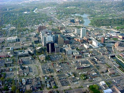 rochester mn aerial view of downtown rochester