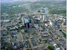 Rochester, MN Aerial view of downtown Rochester