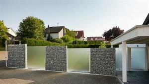 Gabionen Sichtschutz Terrasse : galionen und glas geben schutz von wind l rm und ~ A.2002-acura-tl-radio.info Haus und Dekorationen