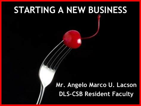 5 Starting A New Business