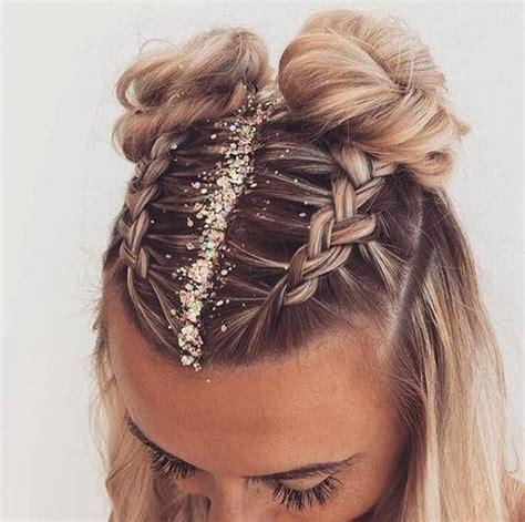 double bun hairstyle boxer braids festival hairstyle