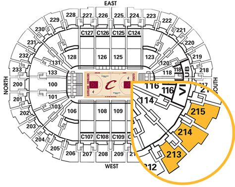 Cavs Floor Seats Food by Cleveland Cavaliers