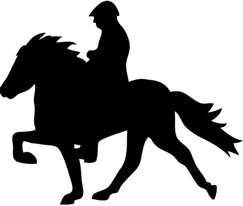 Outline Of A Guy Riding Horse Clipart Library