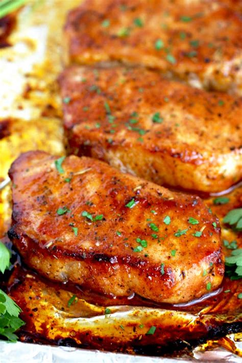 Marinaded pork chops are great both baked and broiled. Recipe For Thin Sliced Pork Chops - Image Of Food Recipe