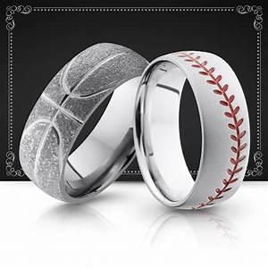 Sports Men39s Wedding Bands Wedding Rings Baseball