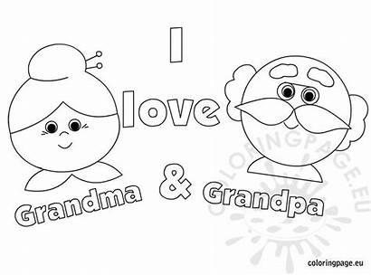 Grandma Grandpa Coloring Number Grandparent Coloringpage Eu
