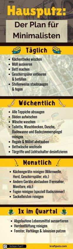 Wohnung Putzen Plan by Hausputz Der Putzplan F 252 R Minimalisten Infografik 4 64
