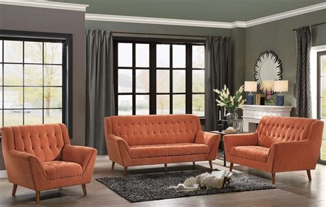 orange living room furniture erath orange living room set from homelegance coleman