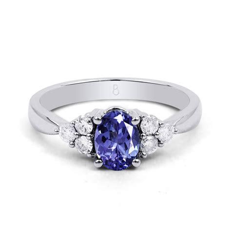 18ct white gold tanzanite diamond vintage engagement