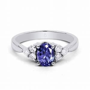 18ct white gold tanzanite diamond vintage engagement With tanzanite wedding rings
