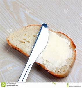 Butter On A Slice Of Bread Stock Image - Image: 25391851