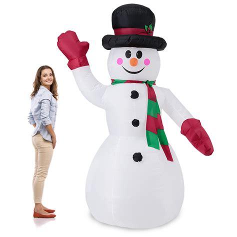 schneemann aufblasbar beleuchtet riesiger schneemann 240cm led beleuchtet weihnachten deko lebensgro 223 aufblasbar ebay
