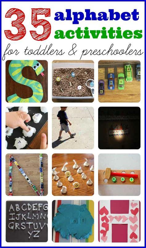 alphabet activities  toddlers  preschoolers