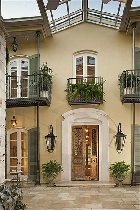 orleans style home  courtyard home decor pinterest