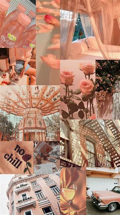 Aesthetic Collage Peach Pastel Peachy Iphone