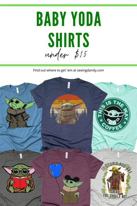 These Baby Yoda shirts are cute for a Disney vacation ...