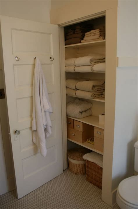 bathroom linen closet ideas linen closet shelving height