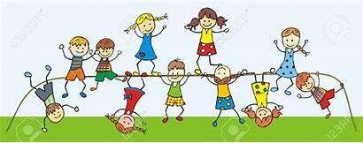 Gym Clipart Children Jungle Active Kid Happy