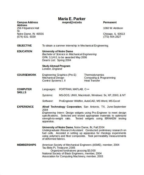 In the market for a mechanical engineering job? 10+ Engineering Resume Template - Free Word, PDF Document ...