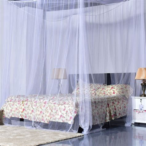 4 corner post bed canopy mosquito king size