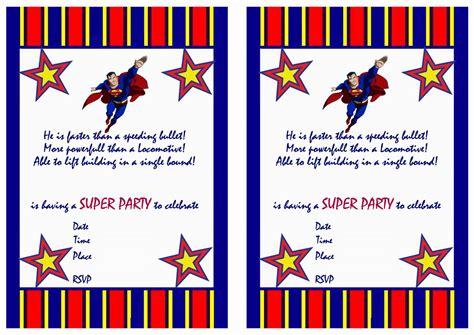 superman birthday invitations birthday printable