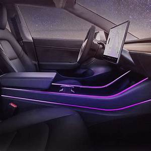Car Interior atmosphere modification seven colors of Ambient Light modification in Control ...