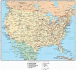 United States Map with US States, Capitals, Major Cities ...