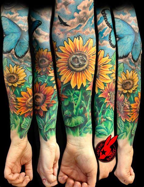 Sunflower Flower Garden Tattoo By Jackie Rabbit By