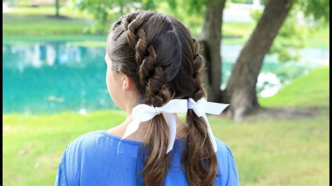 double knotted braids cute girls hairstyles youtube