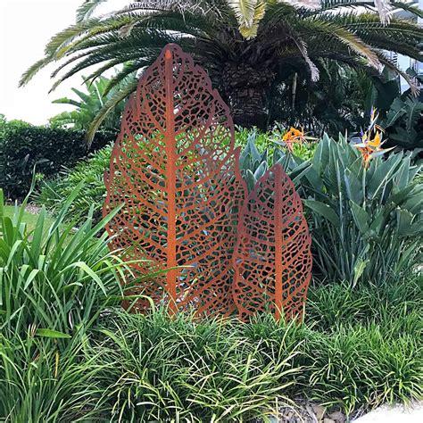 Apple Leaf Garden Sculpture  Decorative Screens Direct